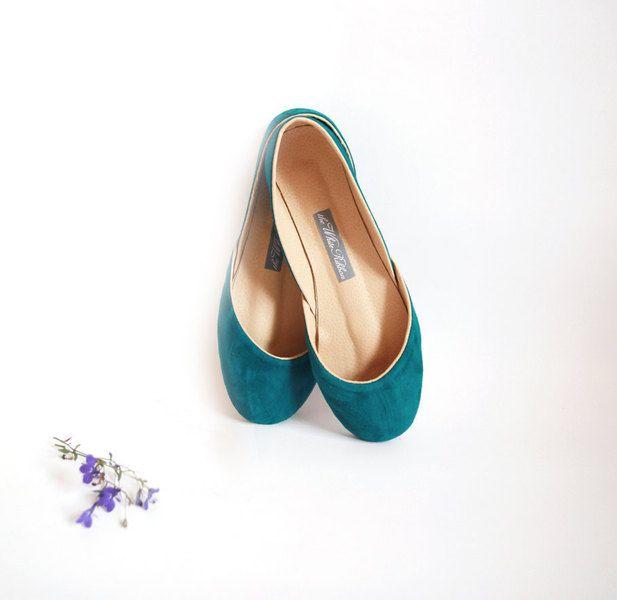 Fabulous+türkises+Wildleder+Ballerinas.+Ein+absolut+fantastischer+Schuh+für+den+Alltag+oder+als+Ergänzung+eine+ein-tone+Kleid.    ☄+Ober-und+Innens...