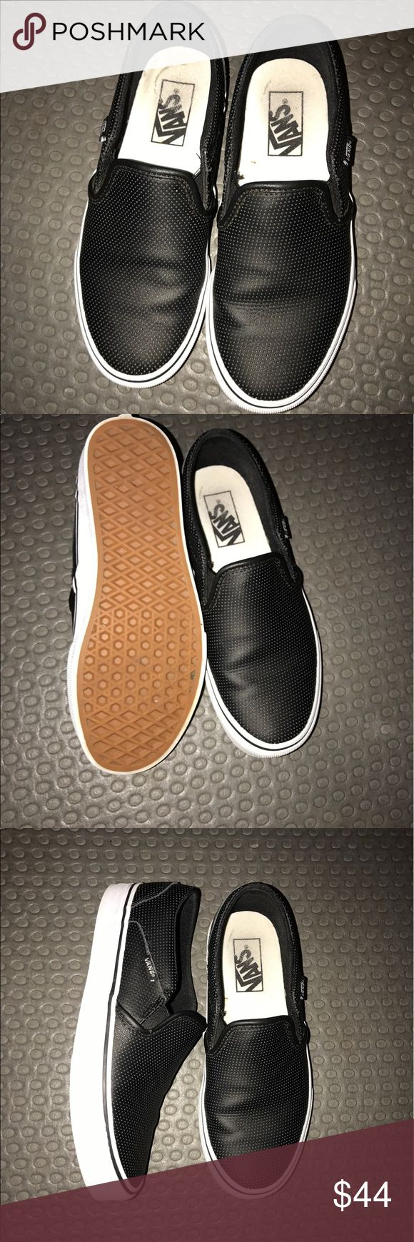 Perforated slip on Vans !!! Worn very little (like three times). The rings at the heel on the inside are from my inserts. I bought them too big this is the only reason for sale! Thanks 🤗 Vans Shoes Sneakers