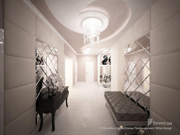 Прихожая в нежных тонах, Дизайн-студия Елены Пономаренко Vitta-Group, Холл/Коридор, Дизайн интерьеров Formo.ua