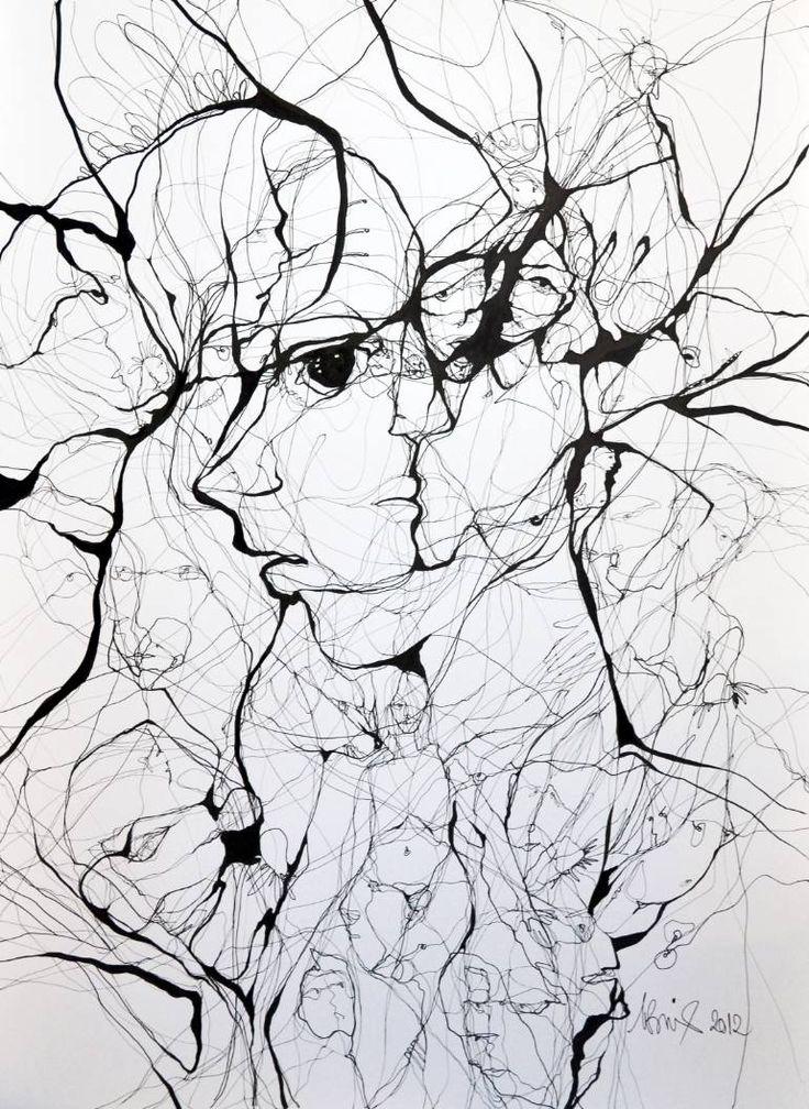 "Saatchi Art Artist Boicu Marinela; Drawing, ""breaking"" #art"