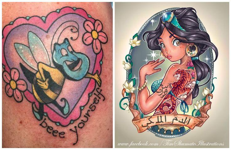 Di tutte le storie d'amore Disney, forse quella tra Aladdin e Jasmine è una delle più romantiche! I tatuaggi ispirati ad Aladdin e Jasmine però non hanno a che fare solo col romanticismo e l'amore,