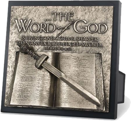word of god wall plaque black wood bronze finish and. Black Bedroom Furniture Sets. Home Design Ideas