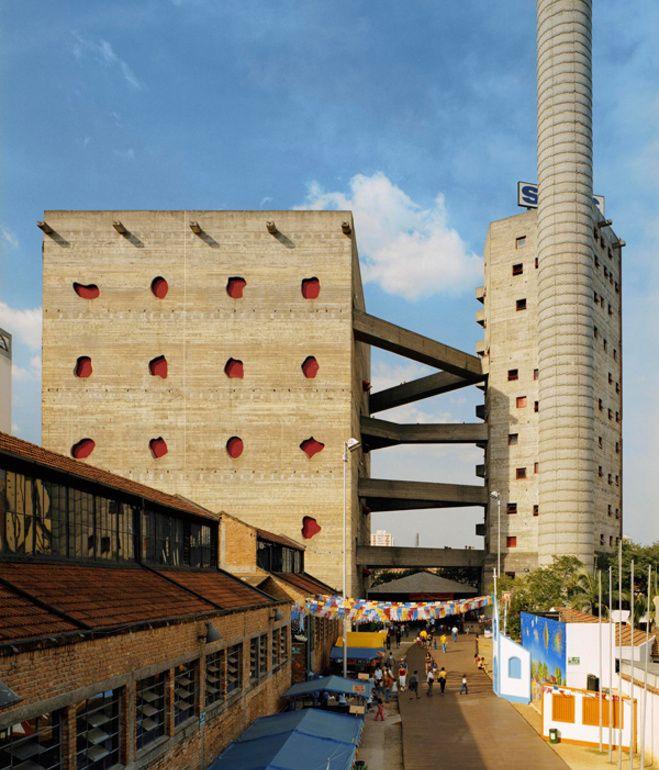 the Fábrica da Pompéia, a São Paulo cultural center designed by Lina Bo Bardi in 1986.