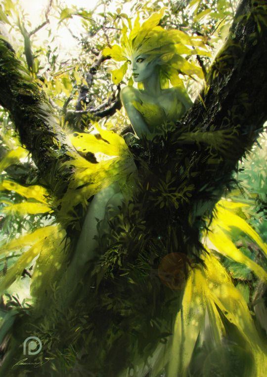 Leaf spirit by Valentina Remenar on DevianArt. http://valentina-remenar.deviantart.com/art/Leaf-Spirit-571008683