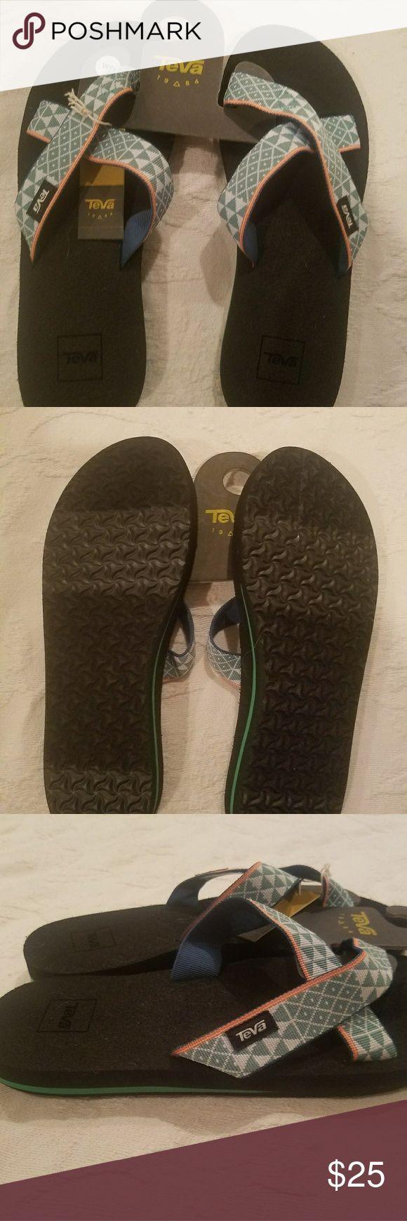 Teva Flip Flop NWT TEVA FLIP FLOP CUTE MINT COLOR PRINTED STRAP Teva Shoes Sandals