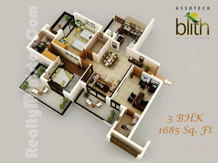 Superb Large_1343723096_assotech Blith 3D View 3 BHK Floor Plan 1685 SqFt  (800×600