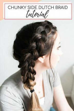 Easy Chunky Dutch Braid tutorial will help you acheive a beautiful dutch braid hairstyle in a matter of minutes! // Hey There, Chelsie – a Utah Beauty