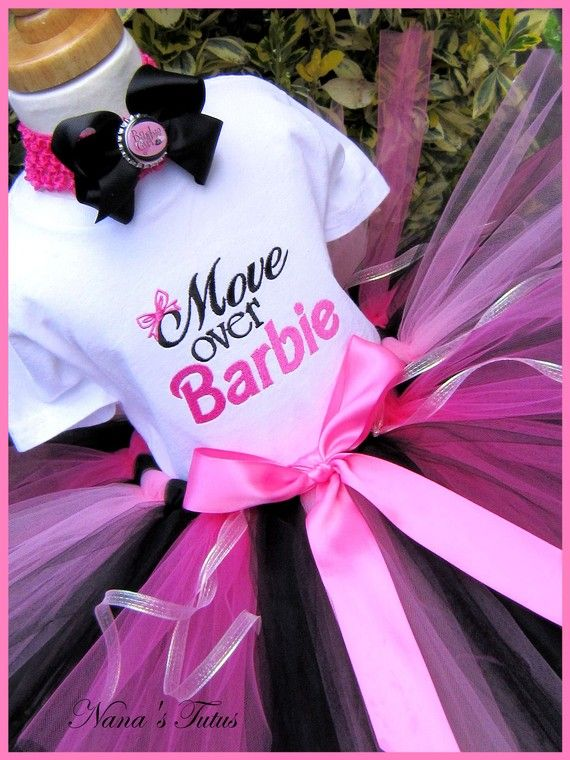 Reason #126: I'm so thankful that I don't have girls! I'm pinning this to temp my friends that do! Move Over Barbie  Party Outfit Barbie Party - so cute!