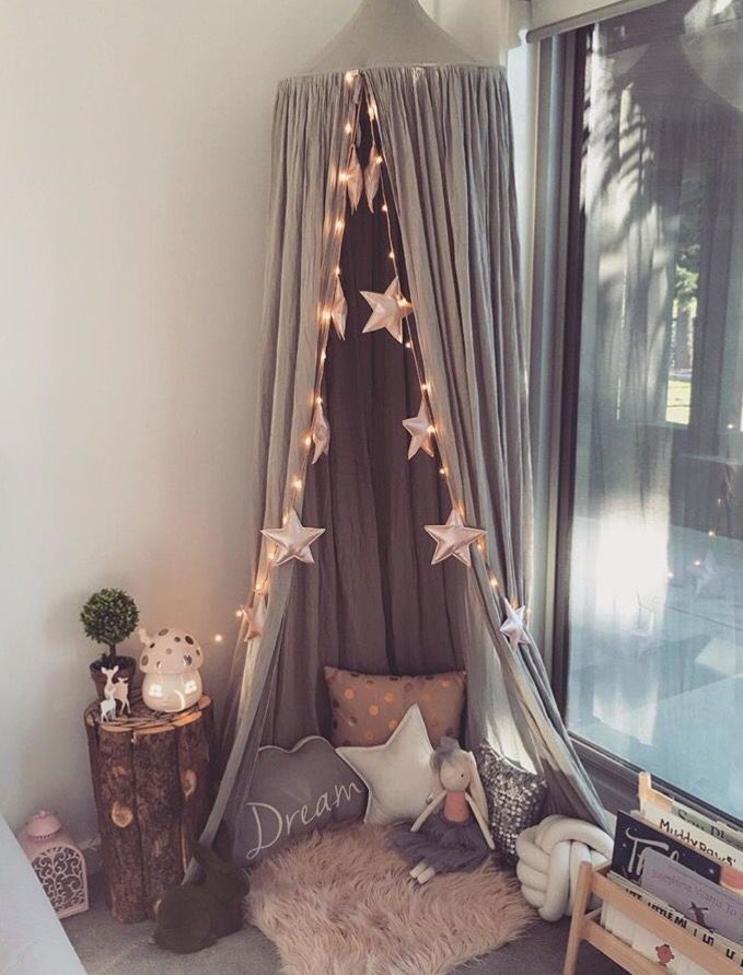 Such a magical nook with our little belle girls nightlight x #australianmushroomlight #littlebelle #handmade #girlsroomdecor #girlsroominspo #fairymushroom #fairylamp
