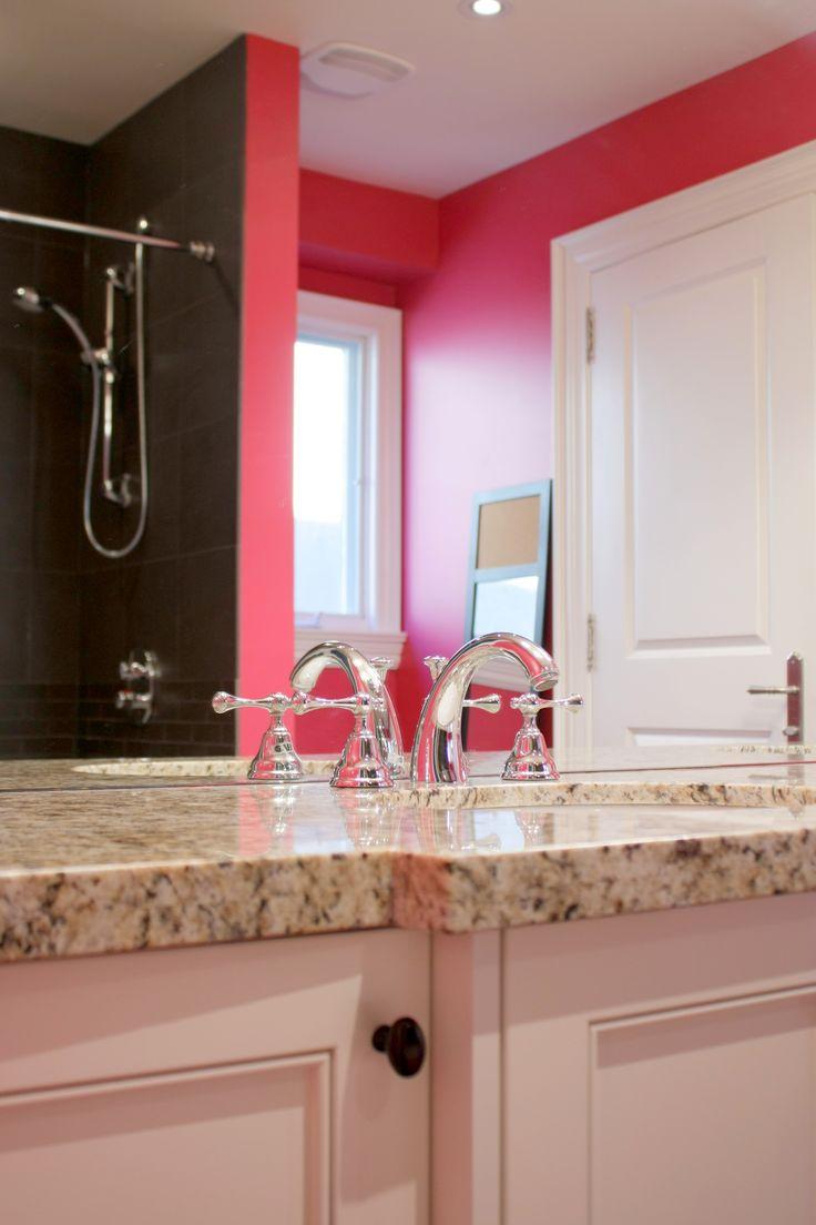 137 best bathroom decorating ideas images on pinterest room fuchsia and chocolate brown in teenage girls bathroom