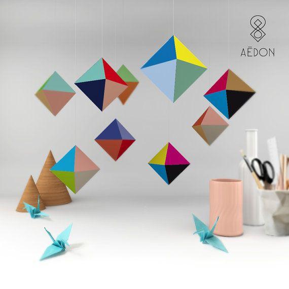 DIY Oktaeder Bastelbogen Set von AedonHamburg auf Etsy