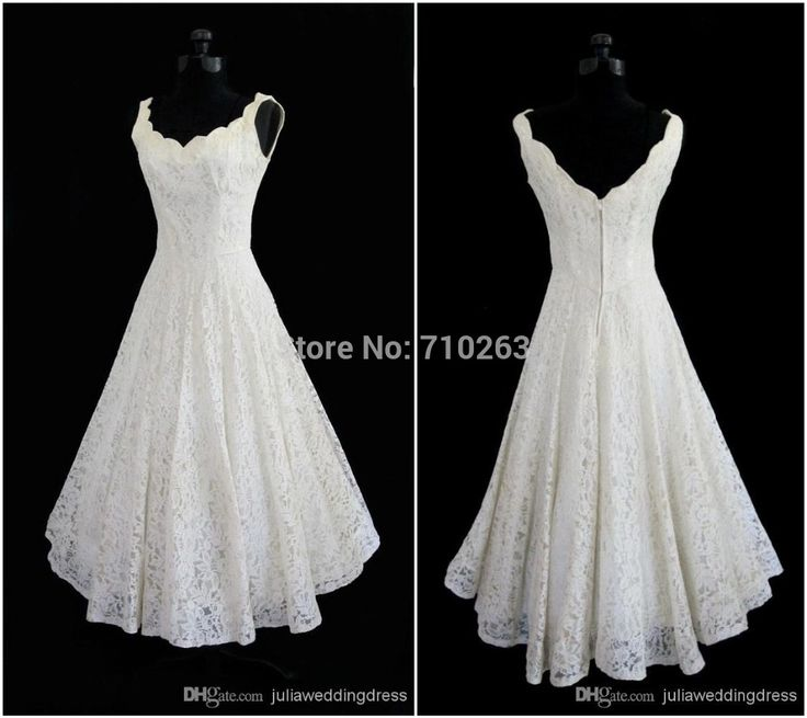 Plus Size 2015 New Simple Scoop Neck A Line Tea length Short Beach Lace Wedding Dress-in Wedding Dresses from Weddings & Events on Aliexpress.com | Alibaba Group