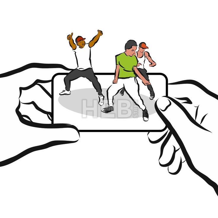 Hip-hop Training App Concept Design Sketch by Hebstreits #stockimage #design