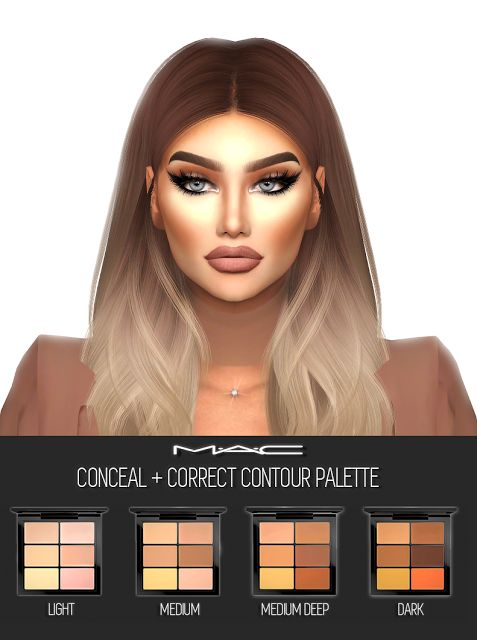 Sims 4 CC's - The Best: Conceal + Correct (Contour Palette) by MAC