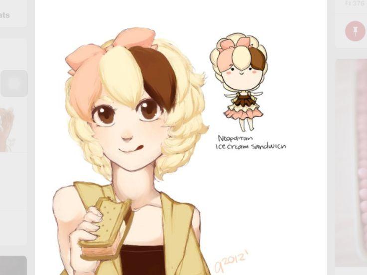 17 best meago artwokr images on pinterest drawing ideas - Ice cream anime girl ...