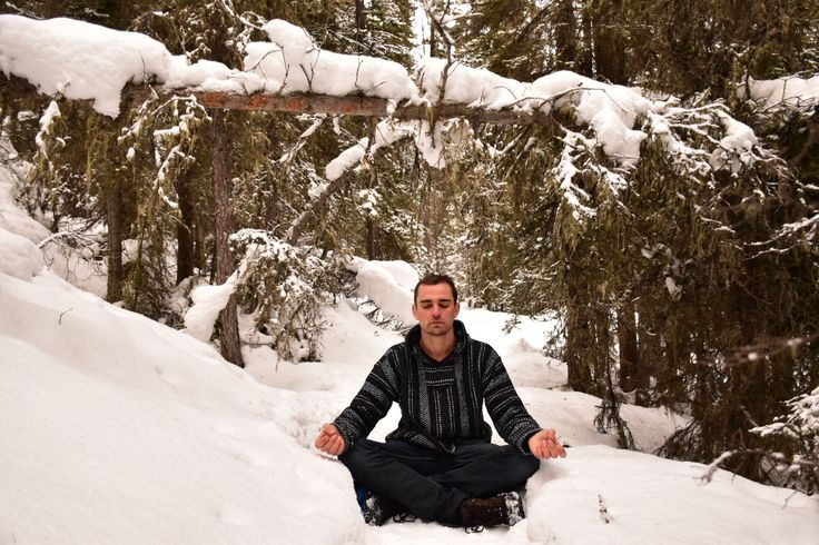 Meditation in the wilderness! So peaceful and relaxing! Banff National Park - Cave and Basin hike
