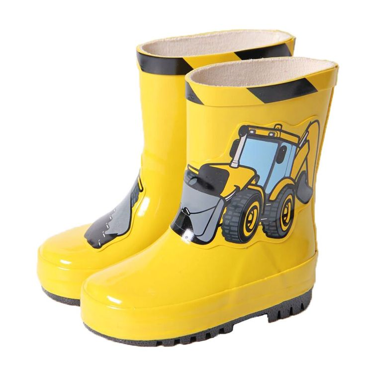 Cute Starry Kids' Rain Boots Yellow Car Children Rainy Days Shoes 14CM. Rubber anti-slip rain boot. Color: yellow. Size: 14cm. Please choose the best fitness size for your baby according to its feet's length. We offer the Highest Quality and Lowest prices Guranteed!!.
