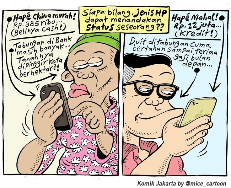 Mice Cartoon, Komik Jakarta - April 2015: Status HP
