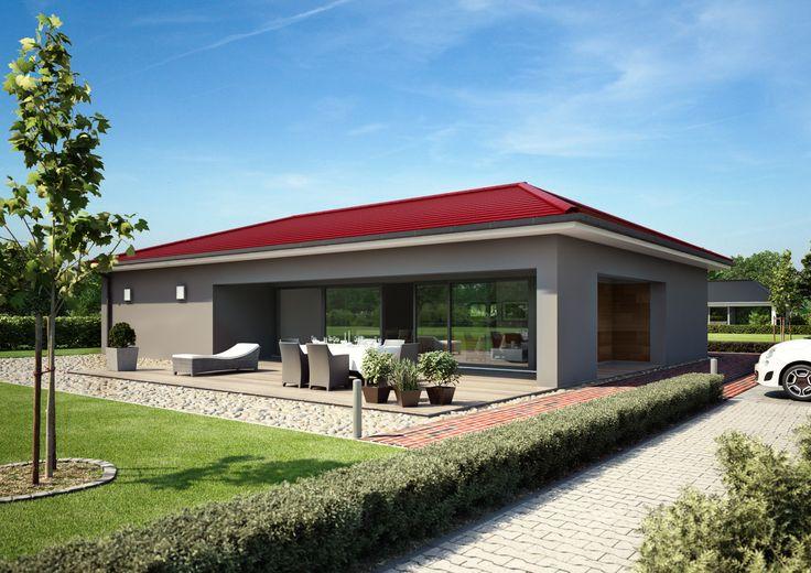 Der Bungalow 182 ist mit 182 m², der grauen Putzfassade und den rubinroten Ziegeln ein echter Hingucker. Zusätzlich bietet es eine großzügige Terrasse...