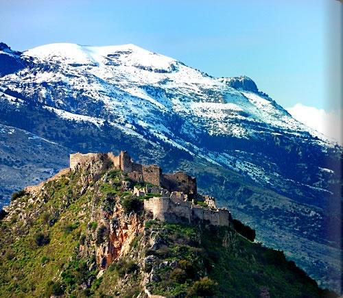 Mystras Castle, Laconia, Peloponnese, Greece