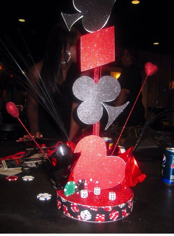 Las Vegas Theme Table Decoration Casino Vegas Theme