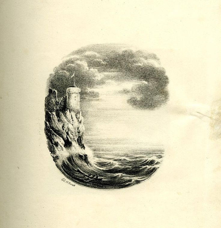 A 19th Century Lithographer Transforms the Alphabet into a Series of Sweeping Landscapes typography lithographs landscapes illustration alph...