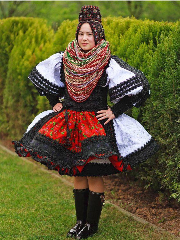 Traditional wedding dress -Camarzana, Romania