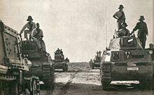 Carri armati M13/40 italiani in Libia