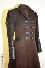 Демисезонное пальто в стиле Стимпанк