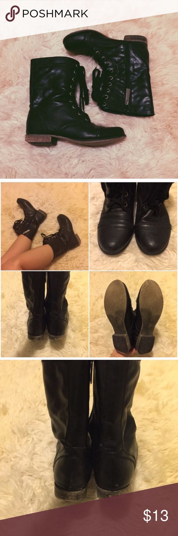 breckel's combat boots! worn with some life left! reposhing because I have too many black boots! true to size, very soft and slouchy... super cute with short skirts! Breckelle's Shorts