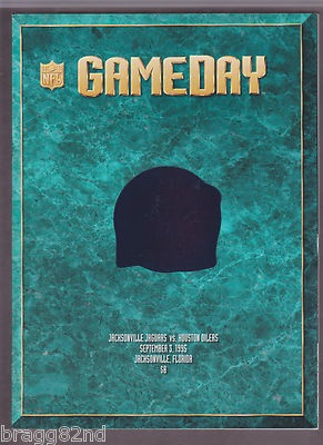 1995 NFL GameDay JACKSONVILLE JAGUARS vs. HOUSTON OILERS Inaugural Game PROGRAM