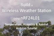 DIY wireless weather station - stage 1 - temperature, humidity and rainfall