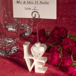 stacked design place card holders