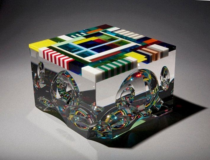 DAVID HUCHTHAUSEN | Glass Scultpure by David Huchthausen at Schantz Galleries