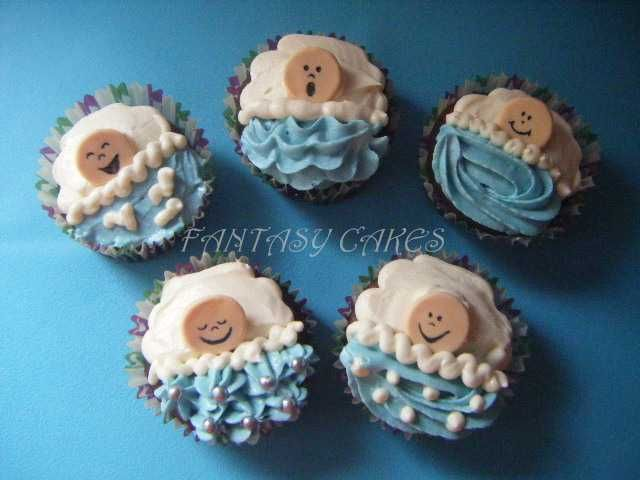 BABY BOY CUPCAKES for Carrie's shower
