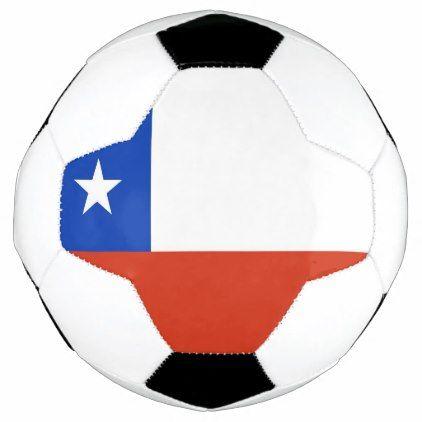 Patriotic Soccer Ball with Chile Flag - elegant gifts gift ideas custom presents