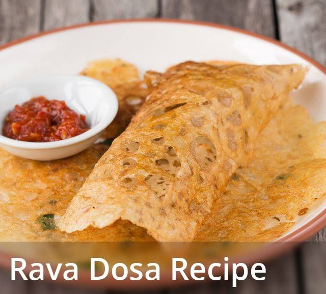 Rava Dosa recipe INGREDIENTS (measuring cup used, 1 cup = 250 ml) ½ cup unroasted rava/suji/fine semolina ½ cup rice flour ¼ cup maida/all purpose flour 1 green chili/hari mirch, chopped 1 medium sized onion/pyaaz, finely chopped ½ inch ginger/adrak, finely chopped 8-9 curry leaves/kadi patta, chopped 1-2 tbsp chopped coriander leaves ½ tsp crushed black pepper ½ tsp cumin seeds 1.5 to 2 cups water or as required salt as required oil or ghee or butter for frying the dosa