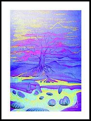 Tree Of Life - Fantasy Art Framed Print by Simon Mark Knott