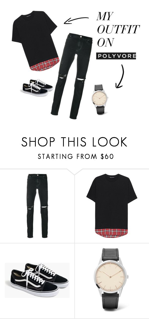 """""""Mens outfite on school"""" by deni-loveclothers on Polyvore featuring RtA, Neil Barrett, J.Crew, Uniform Wares, men's fashion and menswear"""
