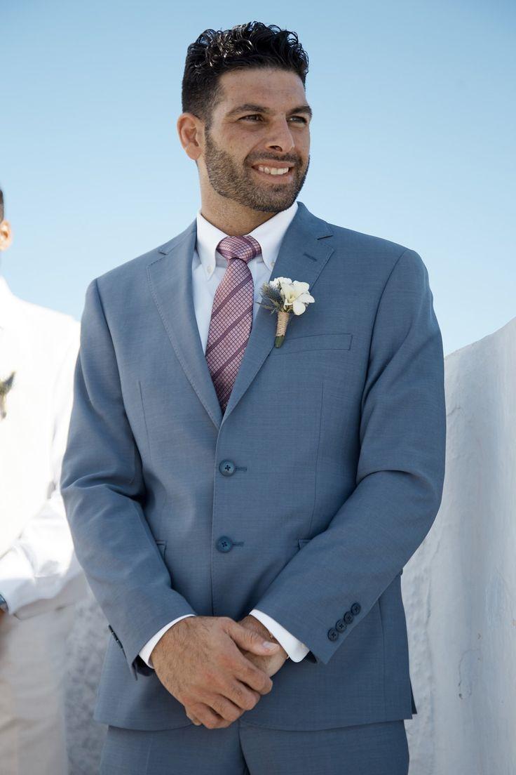 Groom, Handsome, Suit, Smile, Joy, In Love, Santorini Weddings, Moments, Memories