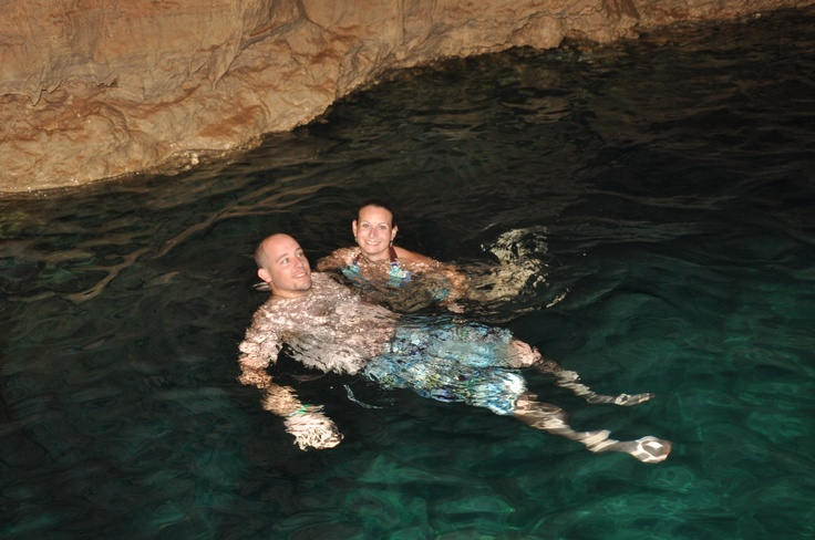 Jon and I swimming in a cenote in Mexico.Del Carmen, Beach, Carmen Things