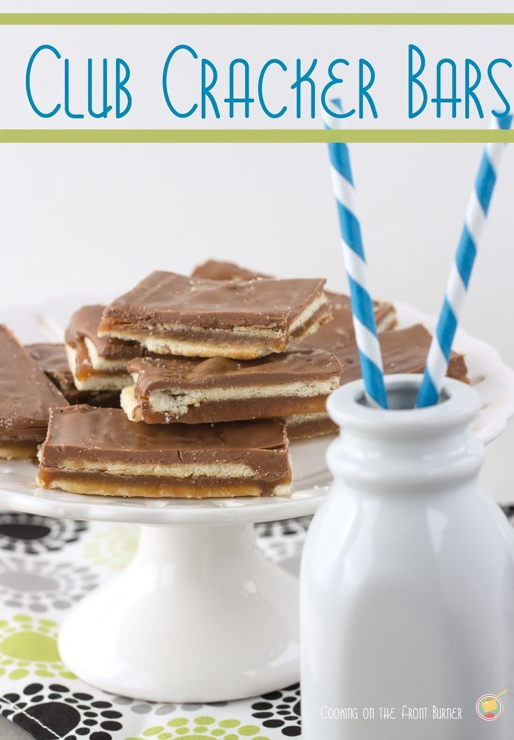 Club Cracker Bars by Cooking on the Front Burner #bars #clubcrackerbars