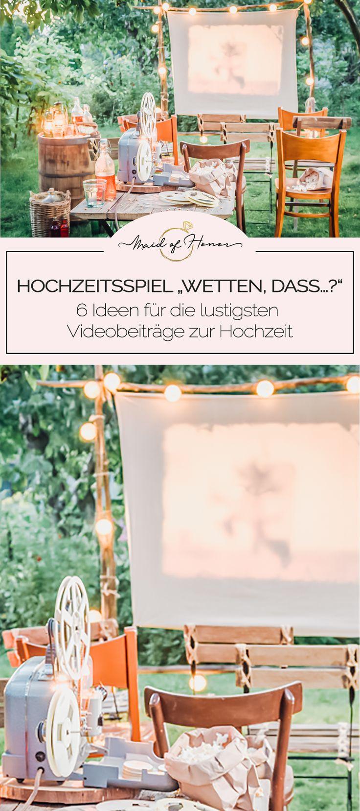 """HOCHZEITSSPIEL """"WETTEN, DASS…?"""" – 6 Ideen für die lustigsten Videobeiträge zur Hochzeit  – Hochzeit"""