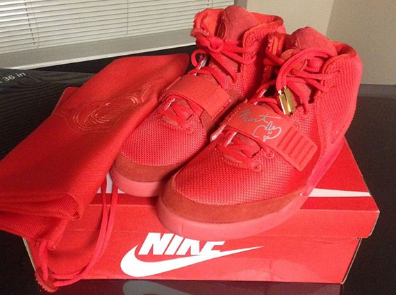 """Nike Air Yeezy 2 """"Red October"""" Autographed by Kanye West"""