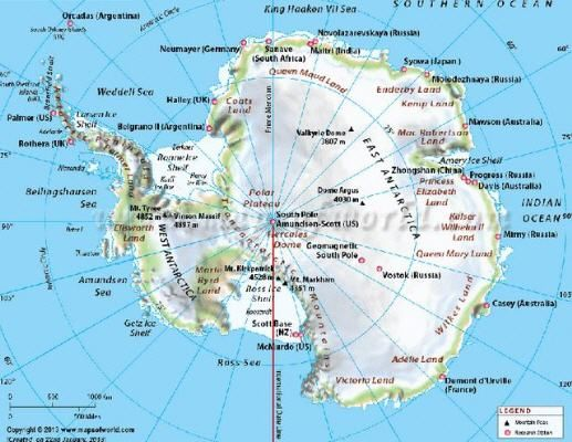 Antarktika'daki toplam buz miktarı, Atlas Okyanusu'ndaki su miktarına eşittir.