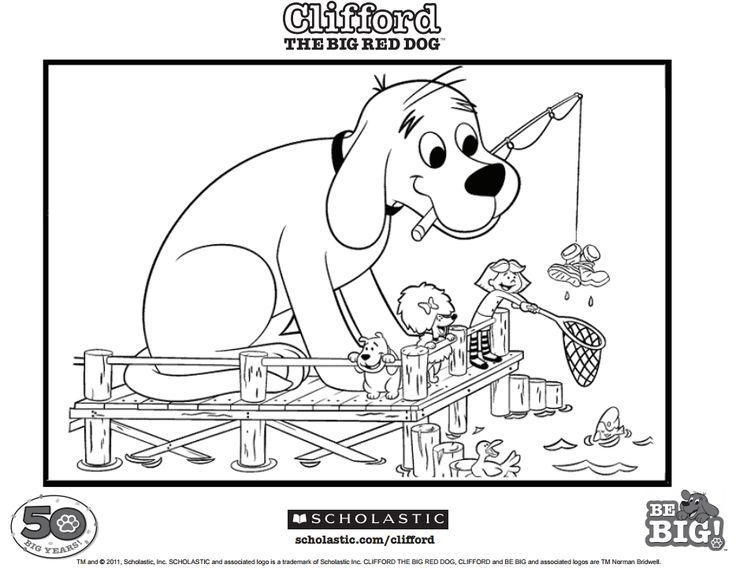 135 best clifford activities images on pinterest for Clifford coloring pages