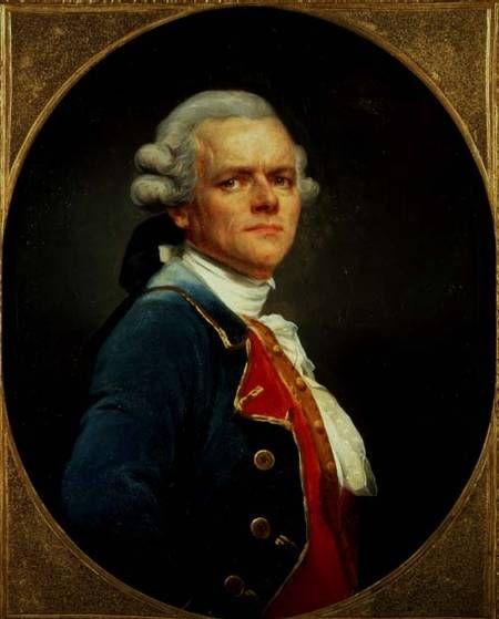 """Barón Joseph Ducreux, """"el Discreto"""" (autorretrato), óleo sobre tela, 2ª mitad del s. XVIII. Barón Joseph Ducreux, """"Autorretrato con uniform..."""