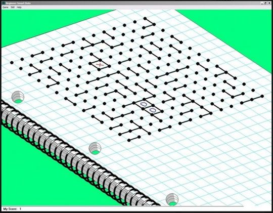 played Dots - self designed game played mostly in school ... sometimes in class.