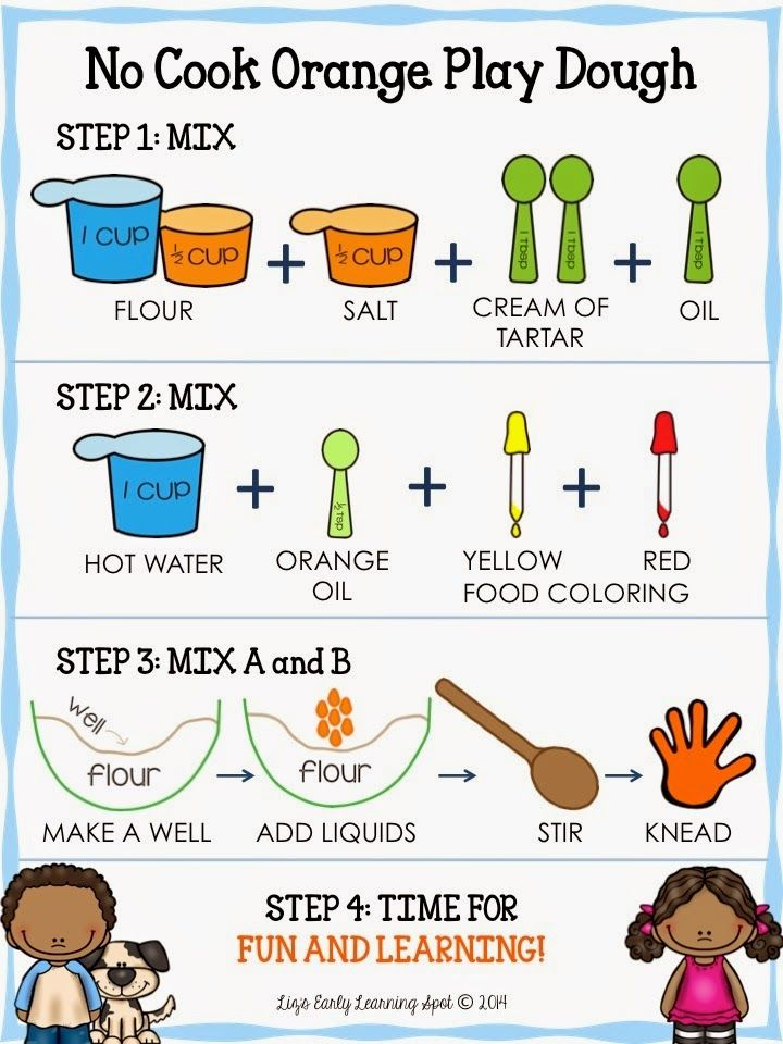 play dough recipe card for kids