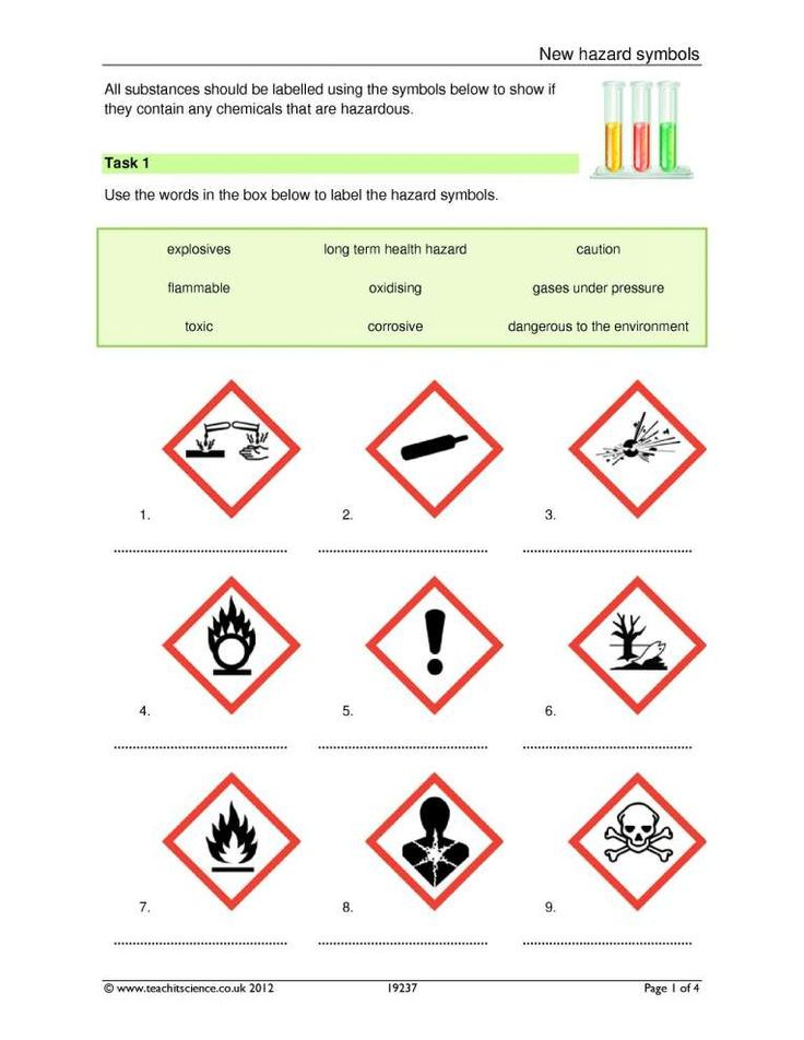 12 hazard symbols in science worksheet check more at